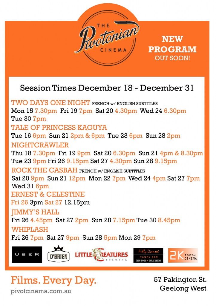 181214 Session Times